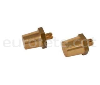 Borne M8 terminal conico + posituvo y - negativo atornillado autocaravana 1