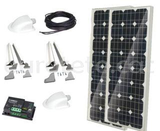 2 plaques solars 100 watts 120 x 55 monocristalina amb regulador Duo digital per autocaravana