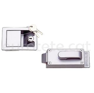 Cerradura puerta en metal 10 x 7 cm con cierre interior + exterior + llaves