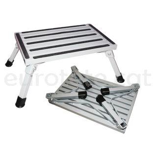 Peldaño o escalera plegable aluminio para autocaravana o caravana 1