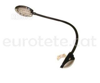Lampara lectura Carbest brazo flexible negro a 12 voltios autocaravana 1