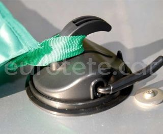 Ventosa negro para sujetar hasta 10 kilos en pared autocaravana o caravana 5