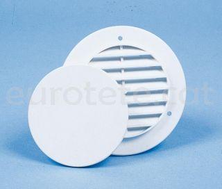 Rejilla redonda blanca ventilación con tapa