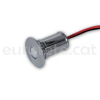 Led empotrable de 12 voltios spot 0.06 watios redondo cromado