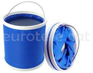 Cubo Camp4 plegable azul camping 1