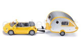 Volkswagen juguete infantil VW cabriolet con caravana miniatura juguete 1