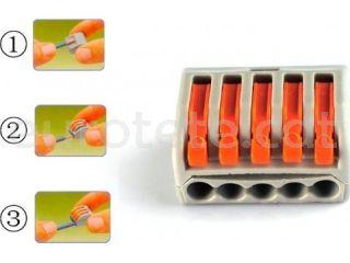 Regleta empalmes Wago 5 cables incluye 3 unidades 2