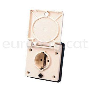 Enchufe exterior schuko ABL con tapa conexion rapida electricidad autocaravana IP44 16 amperios 3