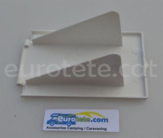 CEE Tapa toma exterior blanco de recambio conector enchufe electricidad autocaravana 3