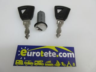 Serie Europa cilindre i 2 claus per a porta autocaravana