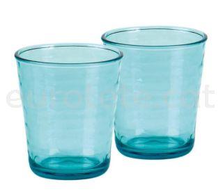 Vaso policarbonato azul verde con 2 unidades para autocaravana