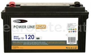 Bateria 120 amperes AGM per autocaravana