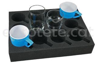 Soporte copa o vaso espuma 33 x 24 cm en armario cocina autocaravana 1