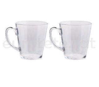 Tassa 2 unitats policarbonat per et o cafe transparent amb nansa