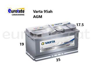 Bateria AGM Varta profesional LA-95 95Ah 850A autocaravana camper 1