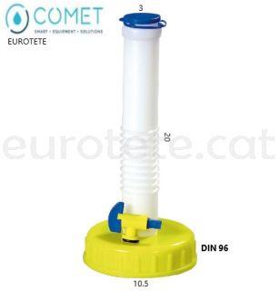 Tap-DIN-96-tub-vàlvula-ventilació-Comet-bidon-garrafa-camperiizacion-aigua-camper