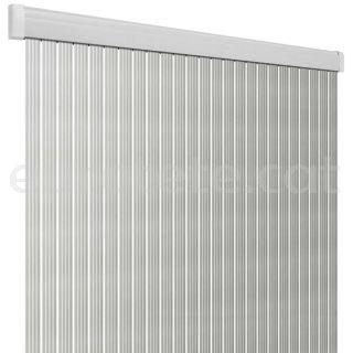 Cortina 60 x 190 PVC Arisol Band Lux platejat i blanc 1