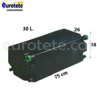 Diposit aigua 30 litres negre 75 x 26 x 18 residuals camper 1