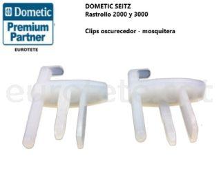 Clips recanvi enfosquidor mosquitera Dometic, Rastrollo 2000 i 3000 finestra 1