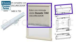 Enfosquidor 1480 x 750 estor amb mini caixa Dometic 1302 autocaravana caravana 1