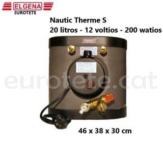 Elgena-Nautic-Therm-S-20-litros-12-voltios-200- watios-camper-truma-therme-calentador-gas-caliente-calefaccion
