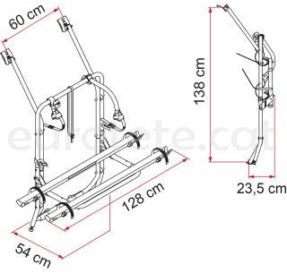Carry-Bike VW T4 porto portabicicletes Fiamma 02094-18A camper 1