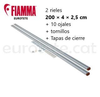 Fiamma 2 barres de 2 metres + traus de Garage-Bars autocaravana 1