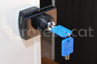 IMC porta principal tancament celula seguretat negra 1