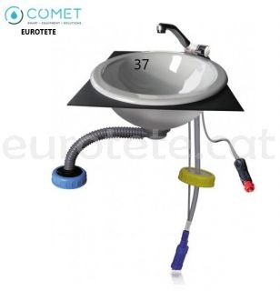 Lavabo set kit con griferia, bomba y toma a 12 voltios