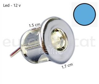 Mini led blau Ø 15 mm per a encastar a 12 volts ideal camper i autocaravana