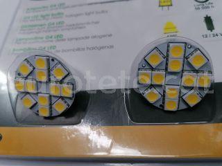 Bombilla led pack G4 200 lumenes conexion central  autocaravana 1