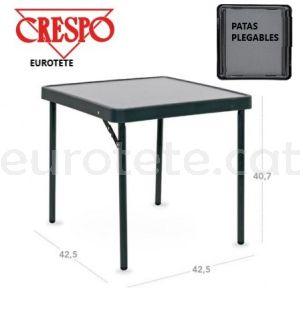 Taula Crespo AP-280 auxiliar 42 x 42 x 40 negre antracita camping 1