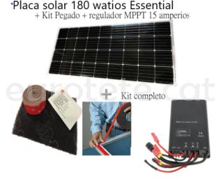 Placa solar 180 watios Essential + Kit Pegado + regulador MPPT autocaravana 2