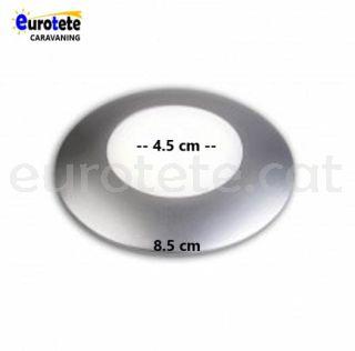 Plafo 8 cm led silver neutre a 12 volts autocaravana 1