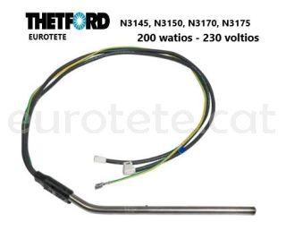 Thetford-resistencia-200 watts- 230-volts-N3145- N3150-N3170-N3175-nevera