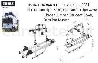 Thule-Elite-Van-XT-aluminio-Fiat-Ducato-X250- X290-Jumper-peugeot-Boxer-+-2007-camper-portabicicletas