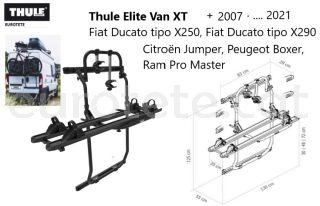 Thule-Elite-Van-XT-negro-Fiat-Ducato-X250- X290-Jumper-peugeot-Boxer-+- 2007-camper-portabicicletas