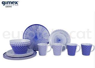 Gimex-917962-reimo-vaixella-melamina-galaxy-mix-plat-blau-i-blanc-4-persones-autocaravana-camping-1