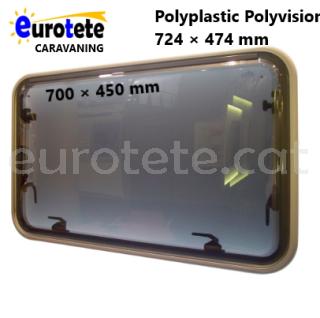 Finestra 700 x 450 Polyplastic Polysision vidre gris caravana 1