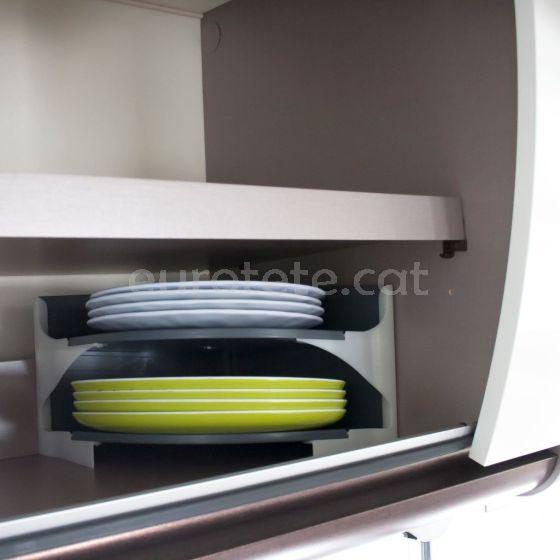 Estante cocina 23 x 23 con 2 compartimientos para platos autocaravana 1