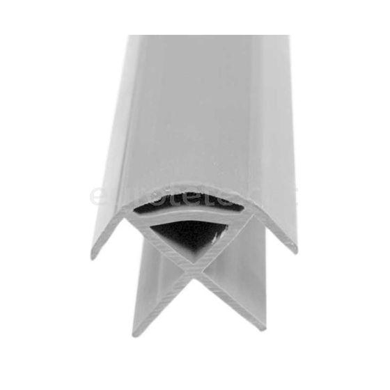 Perfil conexion gris 220 cm en pvc para panel 90º mueble camperizacion camper 1