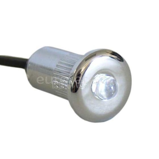 Mini led blanco Ø 15 mm para empotrar a 12 voltios ideal camper y autocaravana