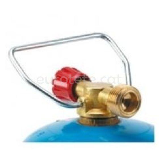 Valvula de ajuste para botella gas azul con asa 1