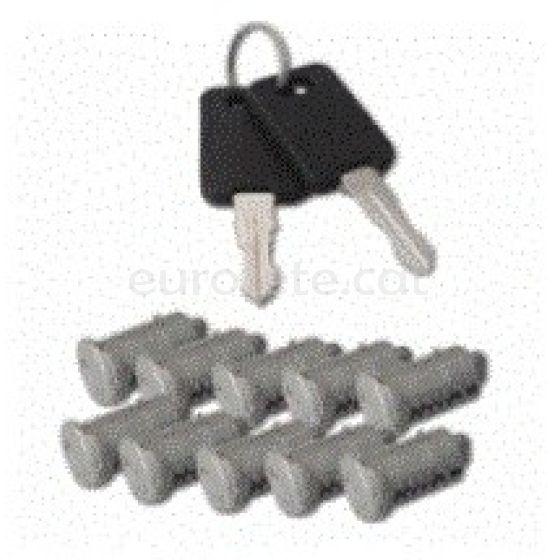 Bombines FAP cuadrada con 10 bombines y 2 llaves puerta autocaravana