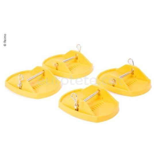 Estabilizador amarillo para patas caravana extraibles ideal caravaning