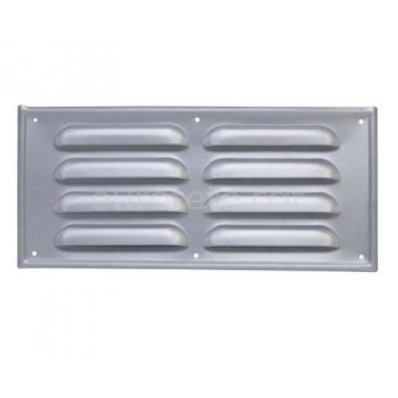 Rejilla 25 x 12 cm aluminio para ventilacion de la autocaravana