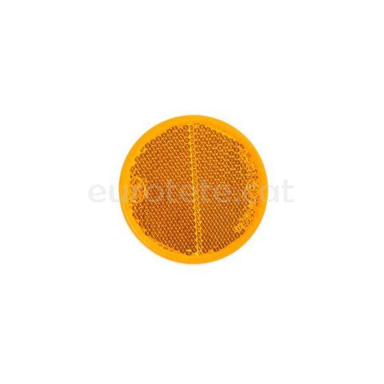 Reflector taronja adhesiu Ø 56 adhesiu per a caravana, remolc o altres