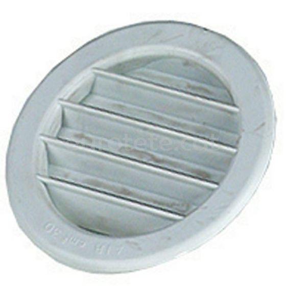 Rejilla 7.5 cm blanca ventilacion tubo cocina autocaravana 1