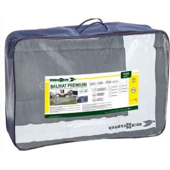 Suelo avance 600 x 250 Brunner Balmat Premium gris y blanco alfombra avance camping 1