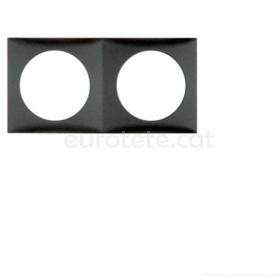 Berker marc doble gris antracita negre per interruptor electricitat